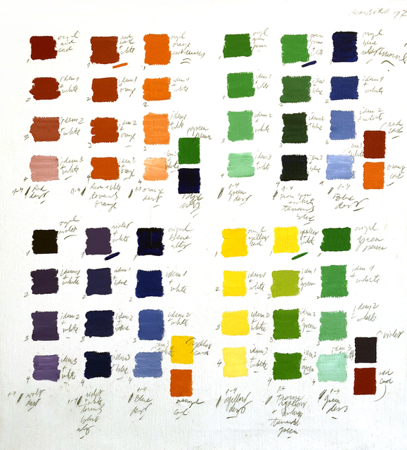 , 'Untitled (Color Classification Series),' 1977, Pentimenti Gallery