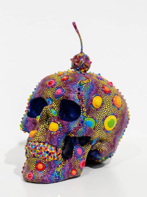 PJ Linden, 'Candy Urchin Skull', 2018, Sculpture, Dimensional paint, Swarovski crystals, polymer, Paradigm Gallery + Studio