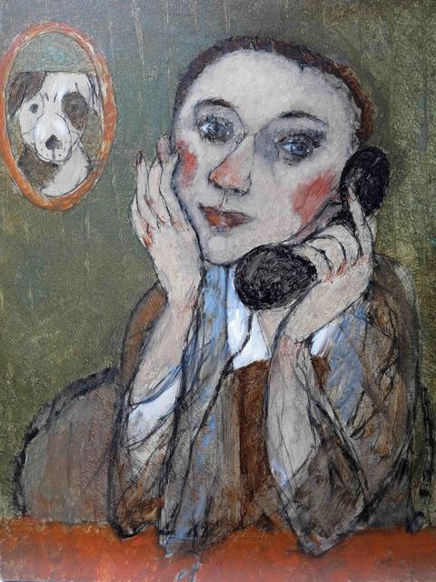 , 'Girl with phone,' , Great Banyan Art