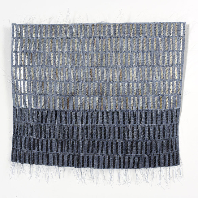 Adela Akers, 'Dark Horizon', 2016, Textile Arts, Linen, horsehair and metal, browngrotta arts