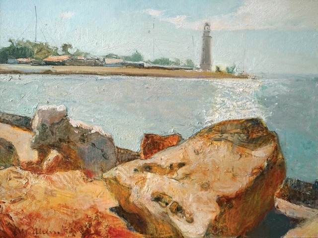 , 'Lighthouse,' 2014, Paul Scott Gallery & galleryrussia.com