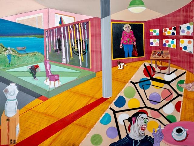 , 'Red Studio IV,' 2018, Imlay Gallery