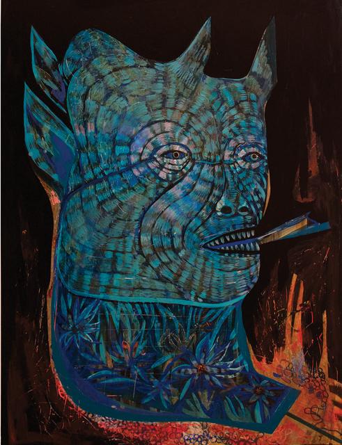 , 'Blue Devil / Kite,' 2017, Galerie Matthew Namour