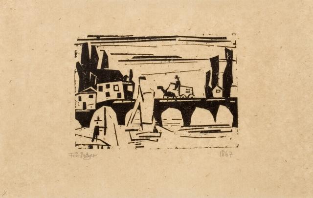 , '(Wagen auf einer Brücke) (Wagon crossing a bridge),' 1918, Moeller Fine Art