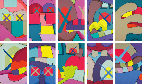 KAWS, 'Ups and Downs', 2013, Print, The complete set of 10 screenprints in colors, Upsilon Gallery