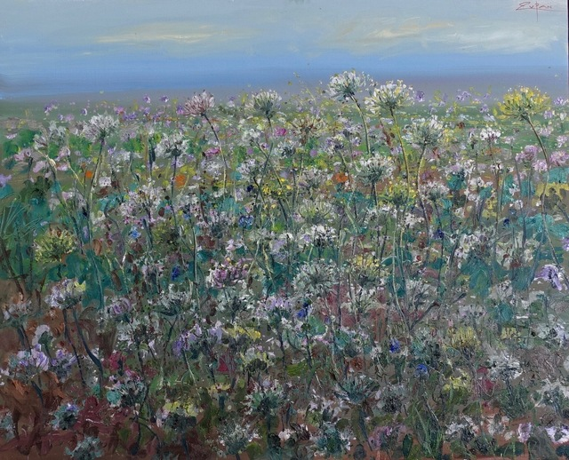 , 'Field of Queen Anne's Lace on Port Road,' 2018, Galerie d'Orsay