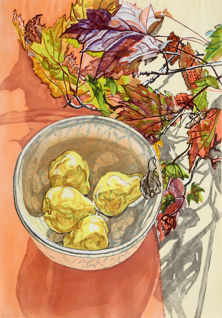Janet Fish, 'Pears and Autumn Leaves', 1988, RoGallery
