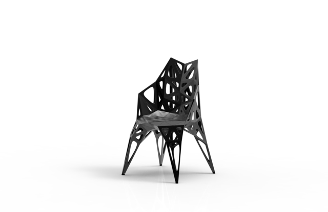 , 'MC011-F-Black (Endless Form Chair Series),' 2018, Gallery ALL