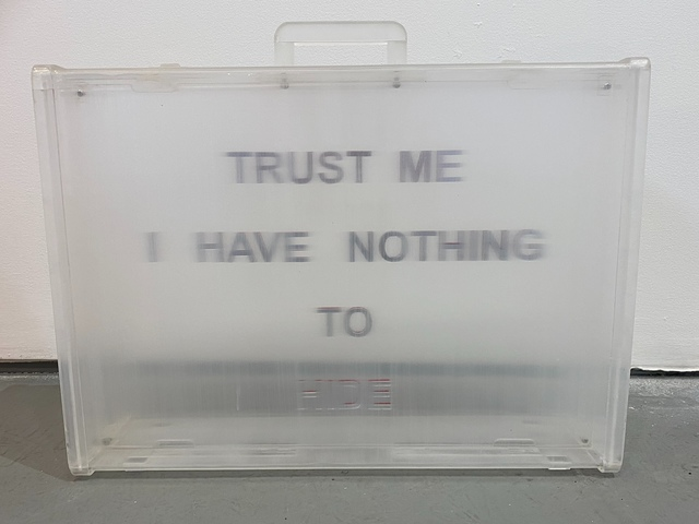 , 'Trust Me; I have nothing to Hide,' 2010, Ro2 Art