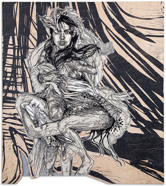 Swoon, 'Monica', 2016, Black Book Gallery
