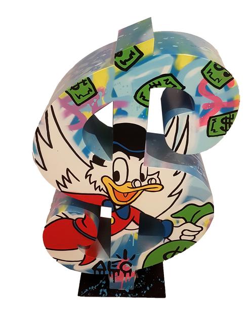 , 'Dollar Mr. Scrooge with money bag,' 2017, Eden Fine Art