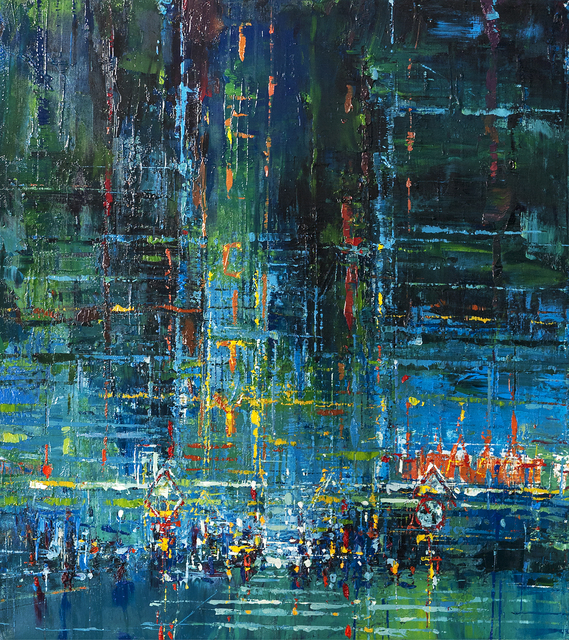 kllogjeri Fotis, 'The heart of my city', 2016, Painting, Oil on canvas, nord.