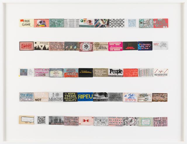 , 'Archive of slogans #3 (for Jac Leirner),' 2018, James Cohan