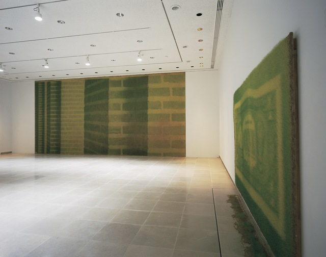 , 'Green brick, green back,' 2004, Rice University Art Gallery