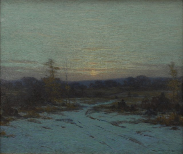 James Knox, 'Sunset Snow', 1930, Private Collection, NY