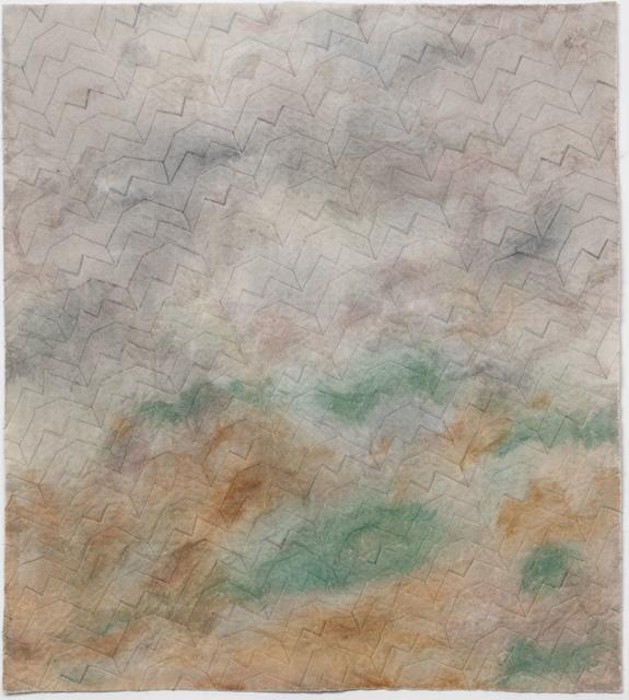 Raul Walch, 'NonWoven Semaphore: Grisons', 2021, Mixed Media, Non-woven fabric, earth pigments, acrylic, thread, Aki Gallery