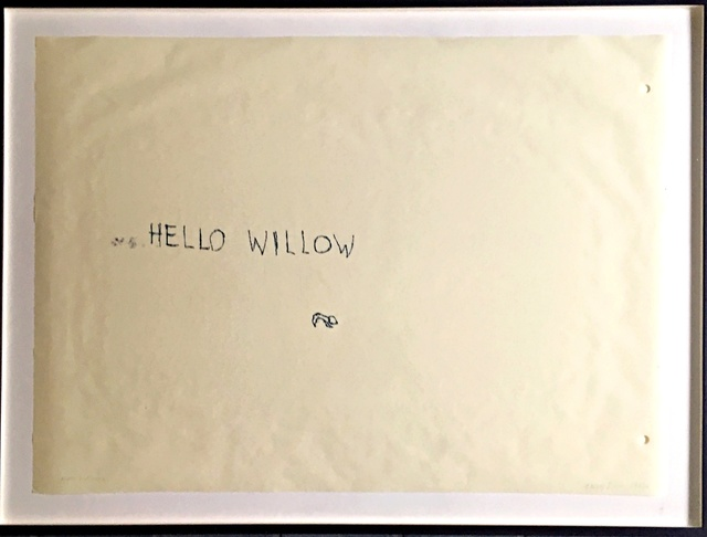 , 'Hello Willow (unique work created for the daughter of Warhol Foundation agent Tim Hunt and author Tama Janowitz) ,' 1997, Alpha 137 Gallery
