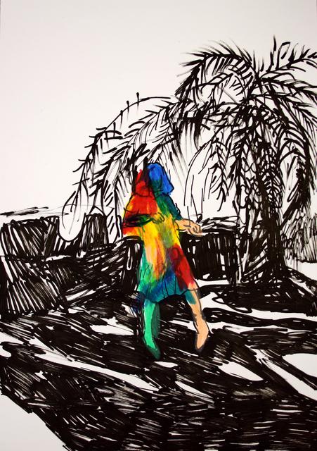 , 'Rainbow Portrait with a Palm Tree,' 2018, Yiri Arts