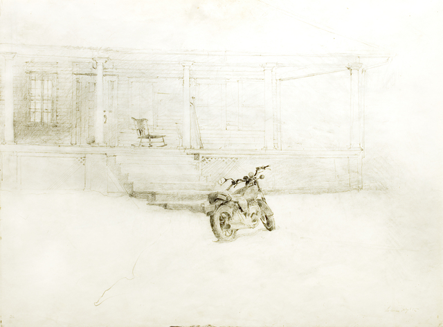 "Andrew Wyeth, 'Jimmy's Porch (Study for the tempera ""Drifting"")', 1991, Drawing, Collage or other Work on Paper, Pencil on paper, Forum Gallery"