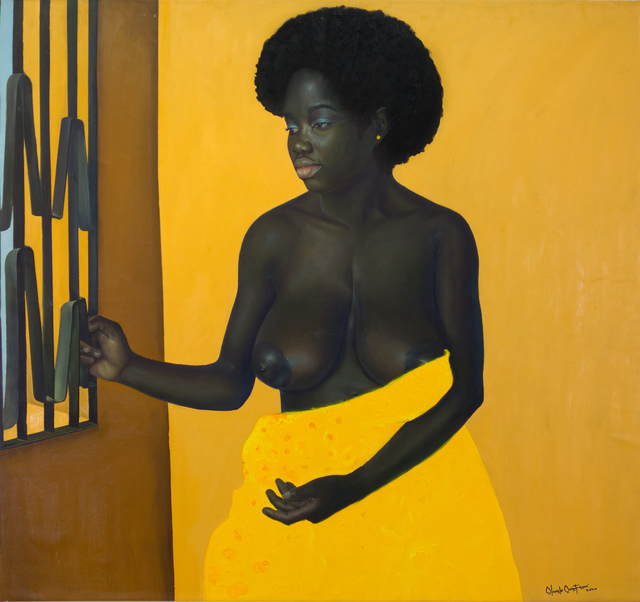 oluwole omofemi, 'Black Girl ', 2020, Painting, Oil and acrylic on canvas, Out of Africa Gallery