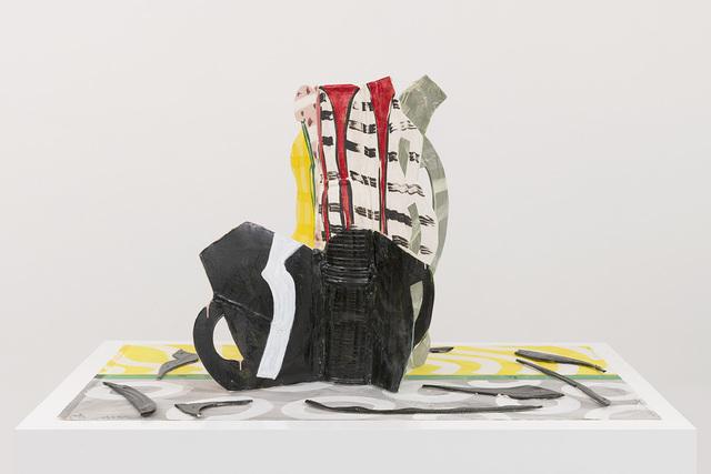 Betty Woodman, 'Aztec Vase and Carpet #7', 2014, David Kordansky Gallery