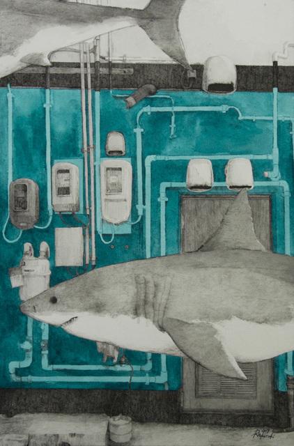 , 'HAZAMA-21 Great white shark,' 2019, Mottas