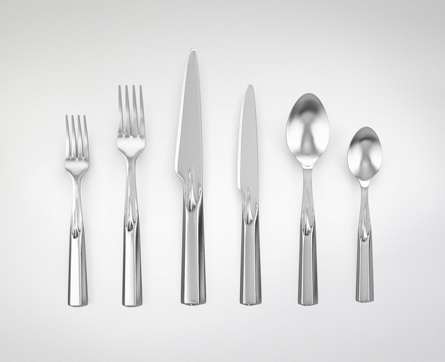 ", '""Ice Breakers"" 3D-Printed Stainless Steel Utensil Set ,' 2014, Gallery ALL"