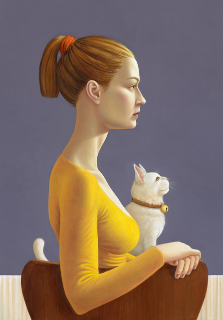 , 'Portrait of a Woman with Cat,' 2018, Galerie Kleindienst