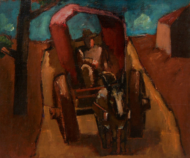 , 'Buggy on the Road,' ca. 1954, Boundary Gallery