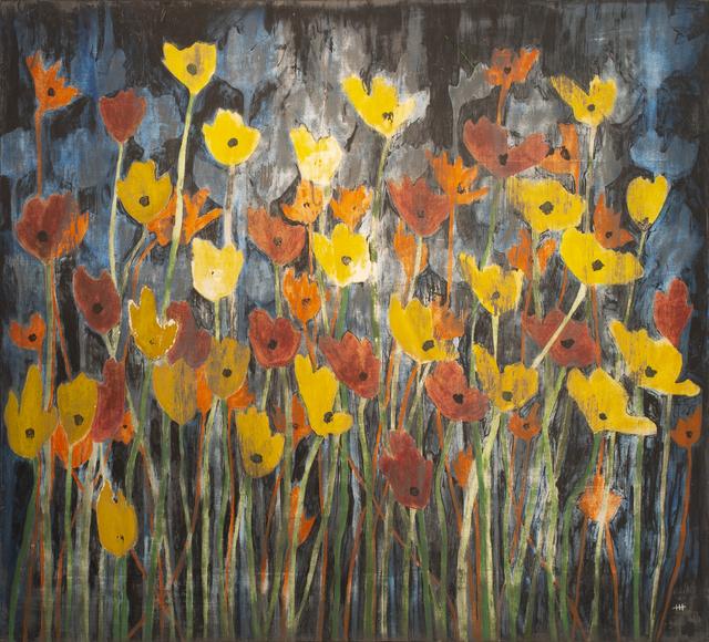 Helen K. Tindel, 'Moonbeam Revelers', 2020, Painting, Acrylic on panel, Blue Rain Gallery