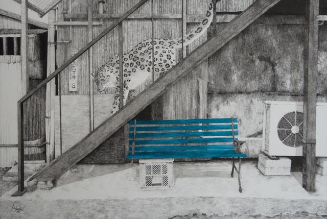 , 'HAZAMA-18 Snow leopard,' 2018, Mottas