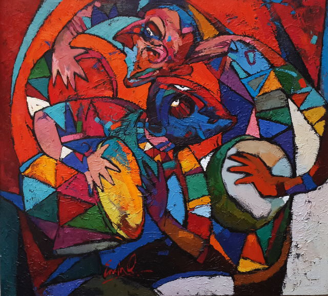 Emin Gahramanov, 'The Drummers', 2012, Janet Rady Fine Art