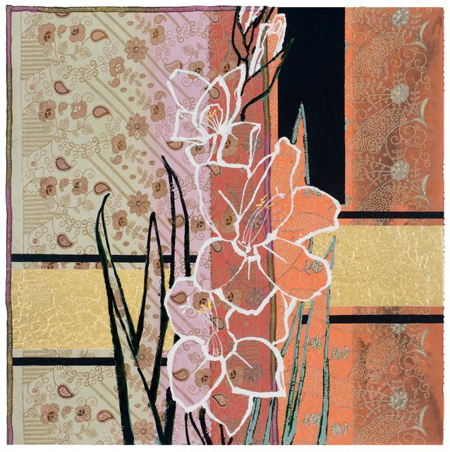 , 'White Gladiolus - Rainbow Sherbert,' 2017, DC Moore Gallery