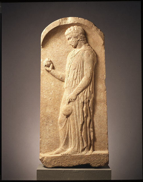 Unknown Greek, 'Marble stele (grave marker) of a young girl', ca. 440–425 B.C., The Metropolitan Museum of Art