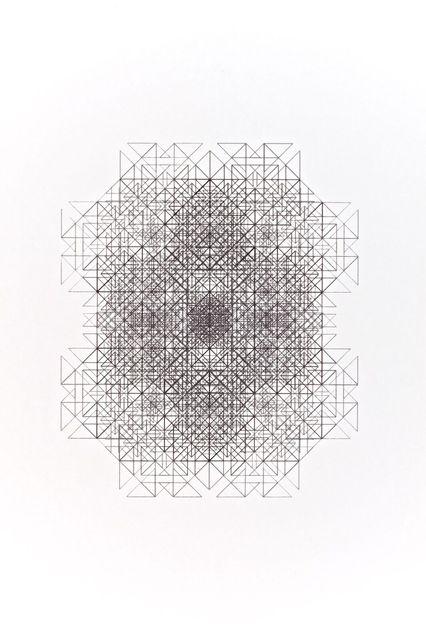 , 'Divertissement 13 d'une seule ligne noire,' 1976-1977, RCM Galerie