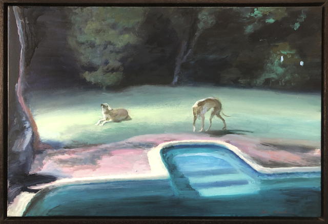 , 'Two greyhounds in the moonlight,' 2019, 99 Loop Gallery