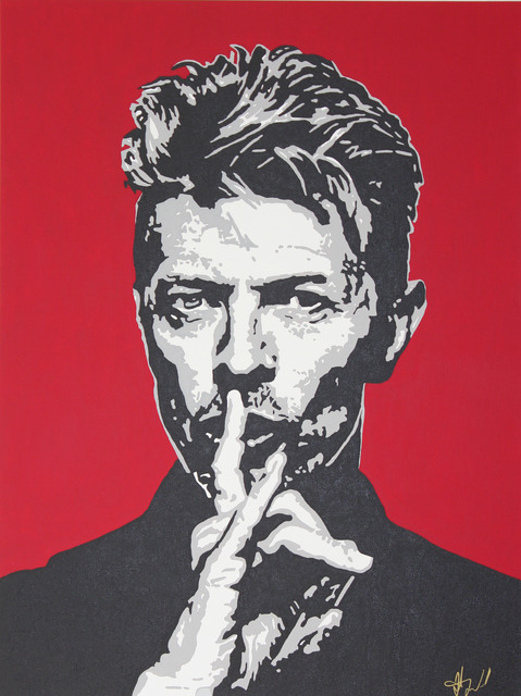 , 'Red David Bowie,' 2017, Wallspace