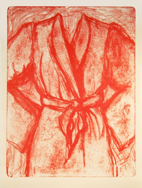 Jim Dine, 'Cream and Red Robe on a Stone', 2010, Print, Lithograph, DTR Modern Galleries