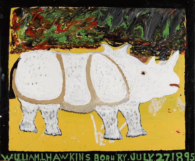 William Hawkins, 'Rhinoceros', 1983, Ricco/Maresca Gallery