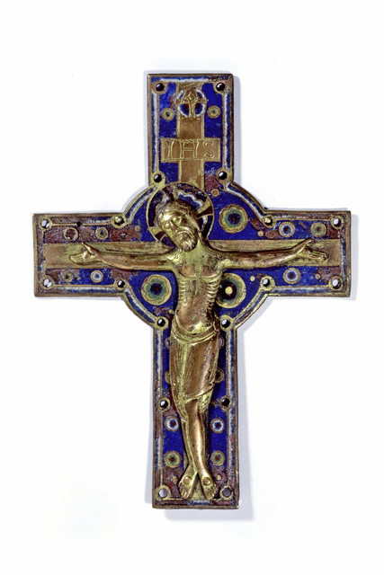 , 'Crucifix Mount and Processional Crucifix, Limoges,' ca. 1200, Städel Museum