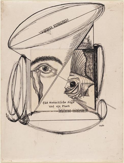 , 'The Human Eye and a Fish, The Latter Petrified (Das menschliche Auge und ein Fisch, letzterer versteinert),' 1920, The Museum of Modern Art