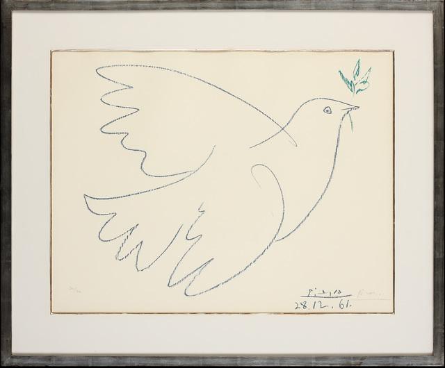 Pablo Picasso, 'La Colombe Bleu', 1961, Print, Limited Edition Signed Lithograph, Belgravia Gallery