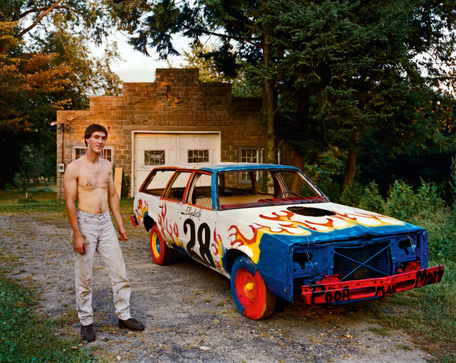 , 'A Man Waiting for a Tow Truck to Take His Car to a Demolition Derby at the County Fair, South Hadly, Massachusetts, September 1998, the Tow Truck Never Came and He Was Unable to Race That Day,' 1998, Buchmann Galerie