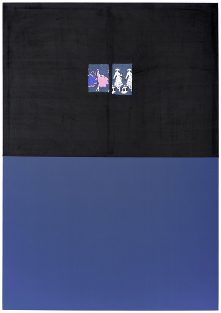 , 'Untitled (NFS15-Blue-Black Embroidery),' 2018, Galerie Peter Kilchmann