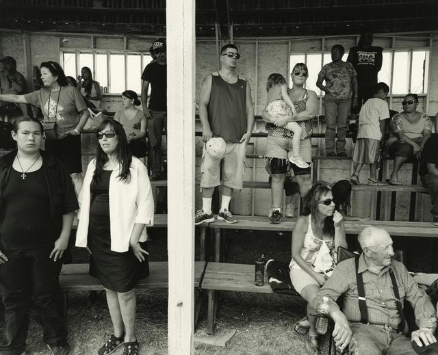 , 'Bleachers 1, Indian Days, Browning, Montana,' 2015, Howard Greenberg Gallery