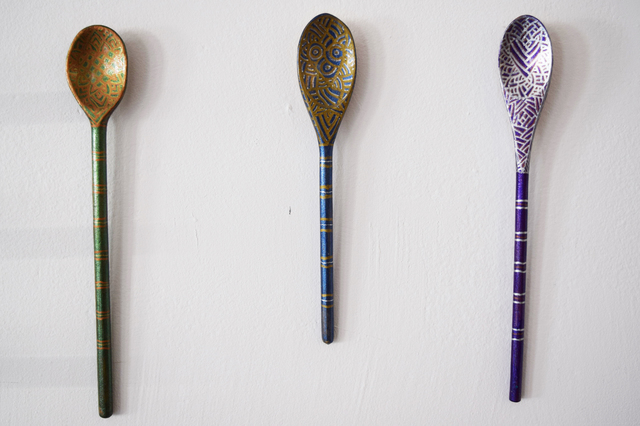 , 'Nest by AK: Hippie Wall Spoons (1-3),' 2018, Fountain House Gallery