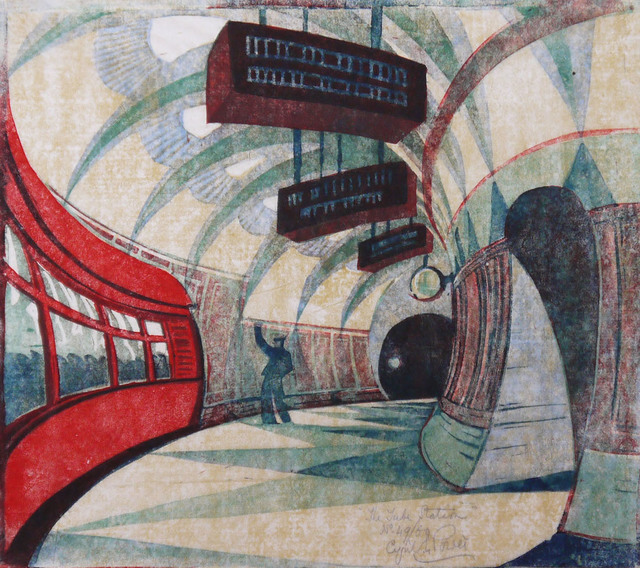 , 'The Tube Station,' C 1932, Osborne Samuel
