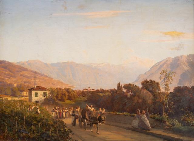 , 'Vendanges dans le Lavaux,' ca. 1900, Simon Studer Art