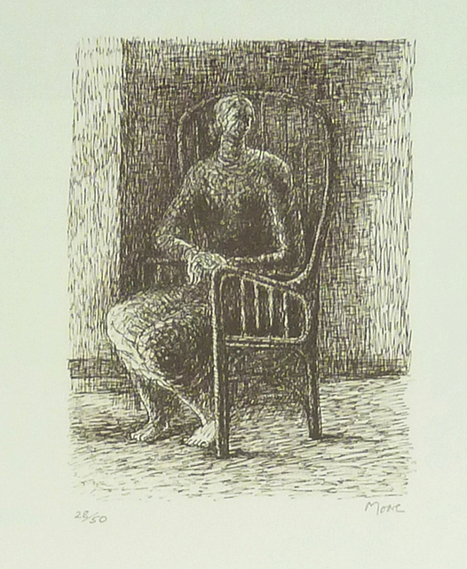 , 'Seated Figure V - Wickerwork Chair,' 1974-1976, Gilden's Art Gallery