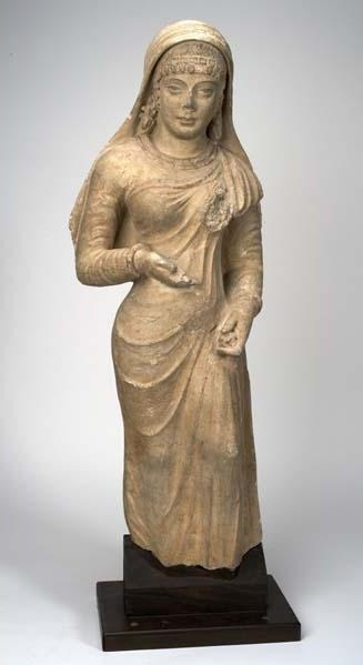 Unknown Artist, 'Standing Woman with headdress', Kushan Dynasty, 3rd, 5th century C.E., Davis Museum